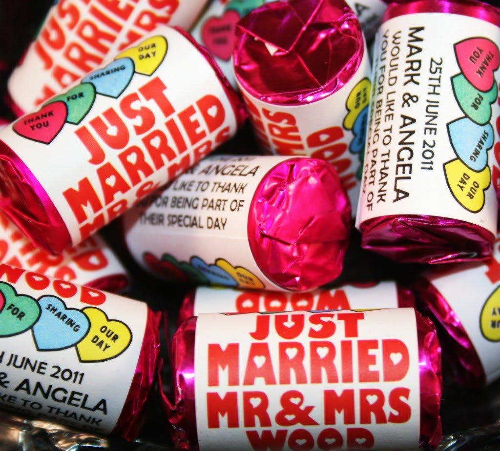 Personalised Mini Love Hearts Wedding Favours Sweets O