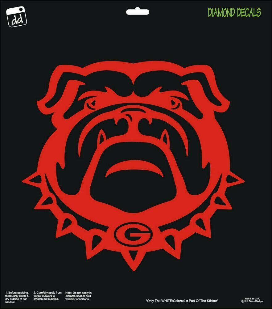 Georgia Bulldogs Dawg Face Only Vinyl Decal Uga Car Truck Window Sticker New Diamonddecalz Truck Window Stickers Window Stickers Vinyl Decals [ 1000 x 882 Pixel ]