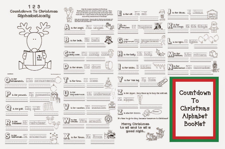 1 2 3 Countdown To Christmas Alphabetically