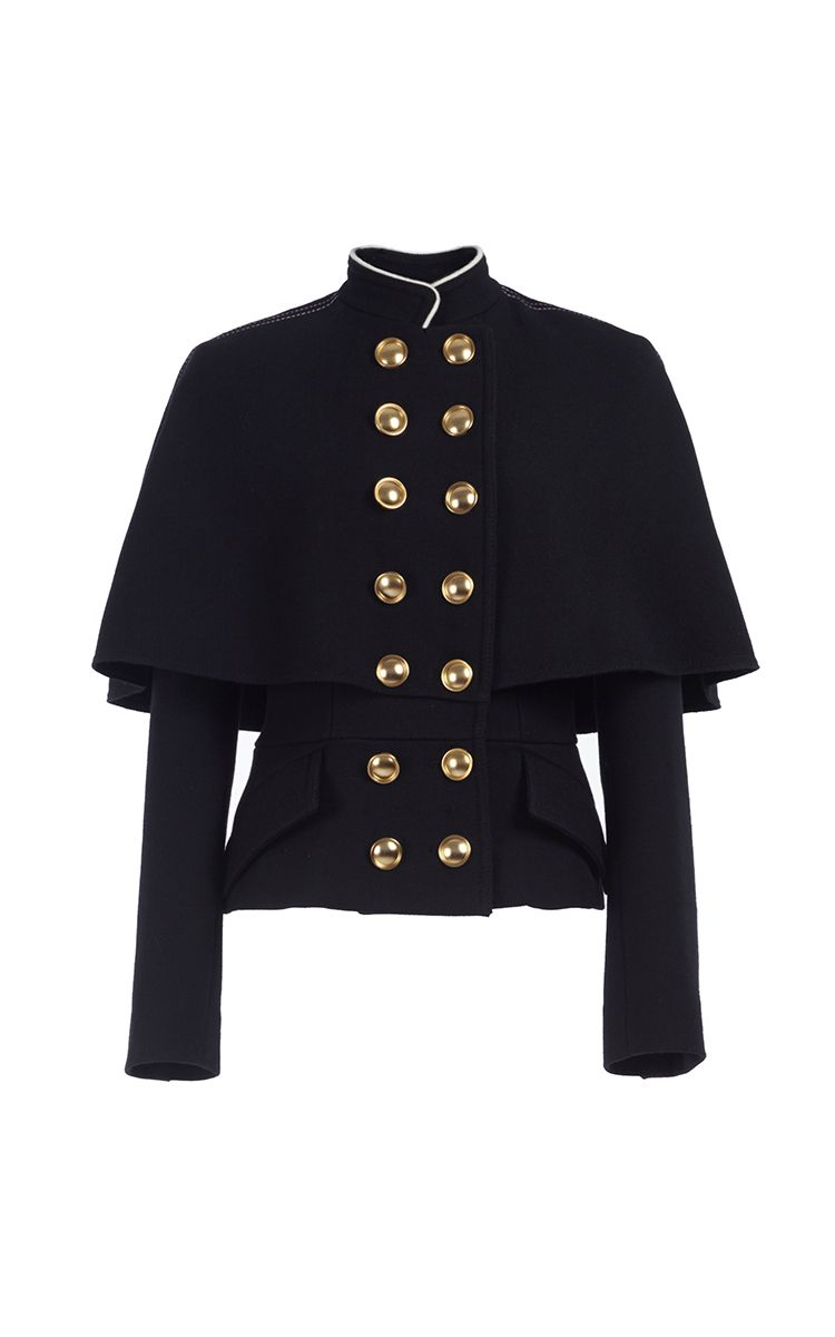 3d173dc158e Military Cape Jacket by BURBERRY for Preorder on Moda Operandi