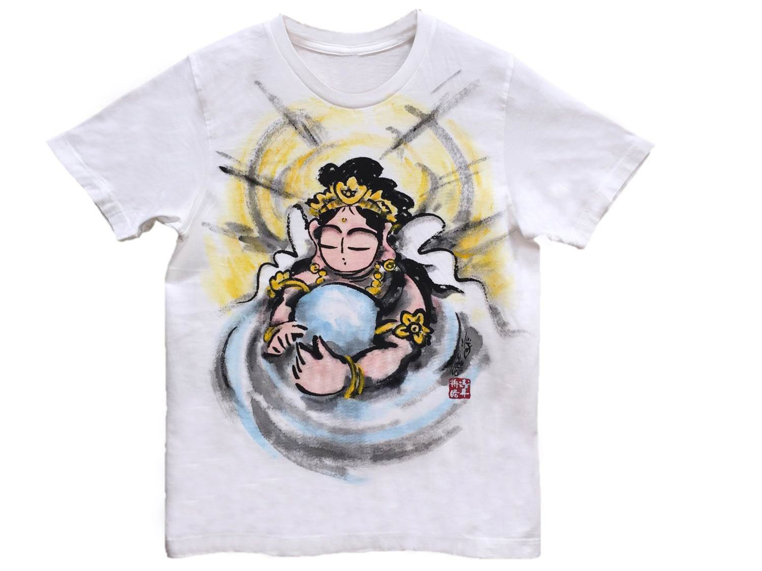 Color in japanese art - Buddhism Zen T Shirts Hearts Of Kannon Japanese Sumi E Art Color Hnadmade