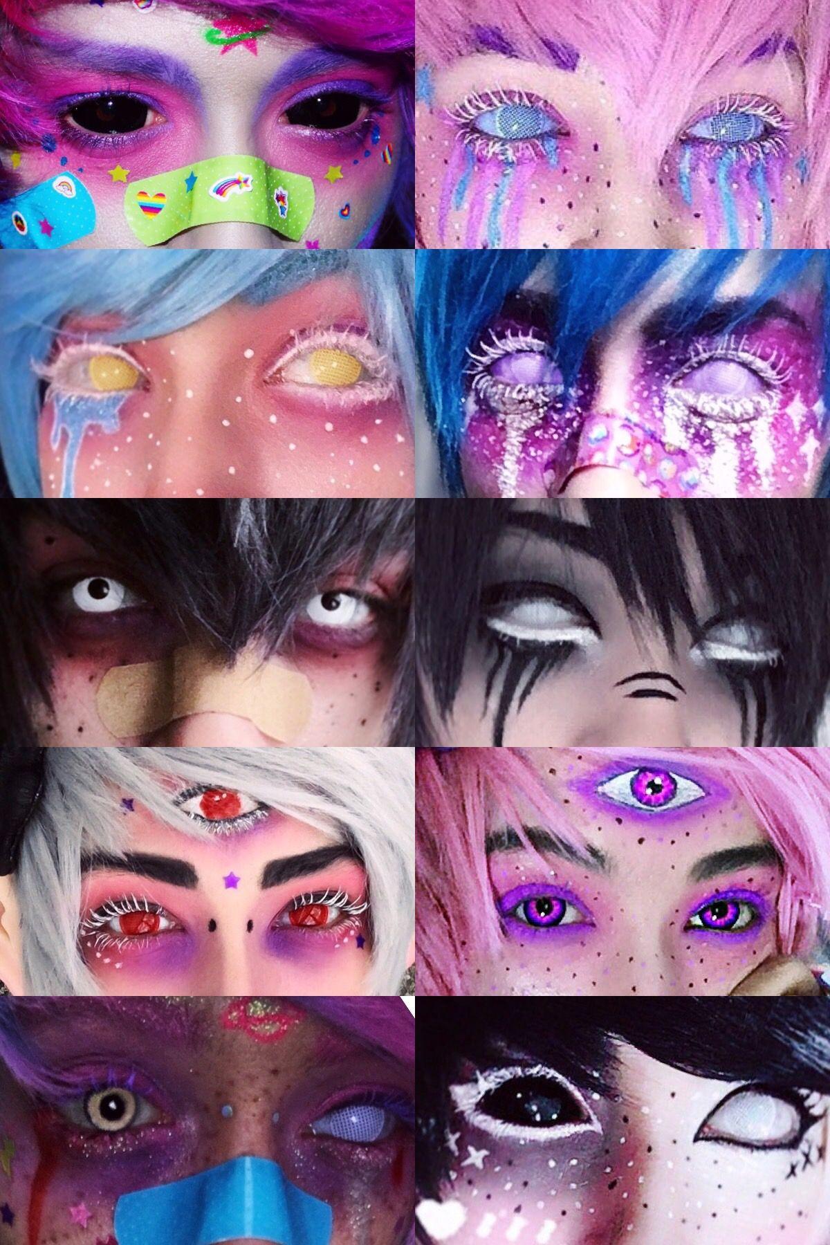 Caz fhey pastel goth makeup pastel makeup kawaii makeup