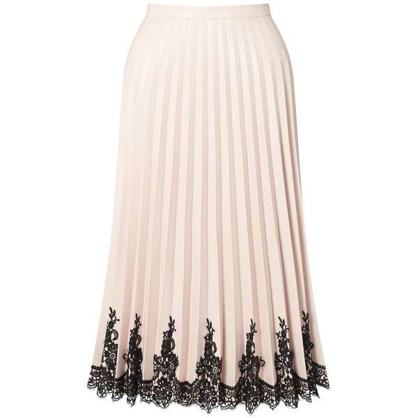 2a0d41b770 Miss Selfridge PREMIUM Nude Faux Leather Midi Skirt ($68) ❤ liked on Polyvore  featuring skirts, nude, vegan leather skirt, pink skirt, miss selfridge, ...