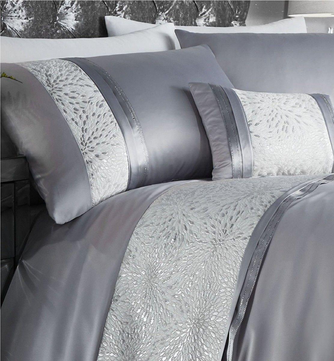 Housse De Couette Petales Gris Argent 135 X 200 Cm 1 Taies Dormitorios Camas Ropa De Cama