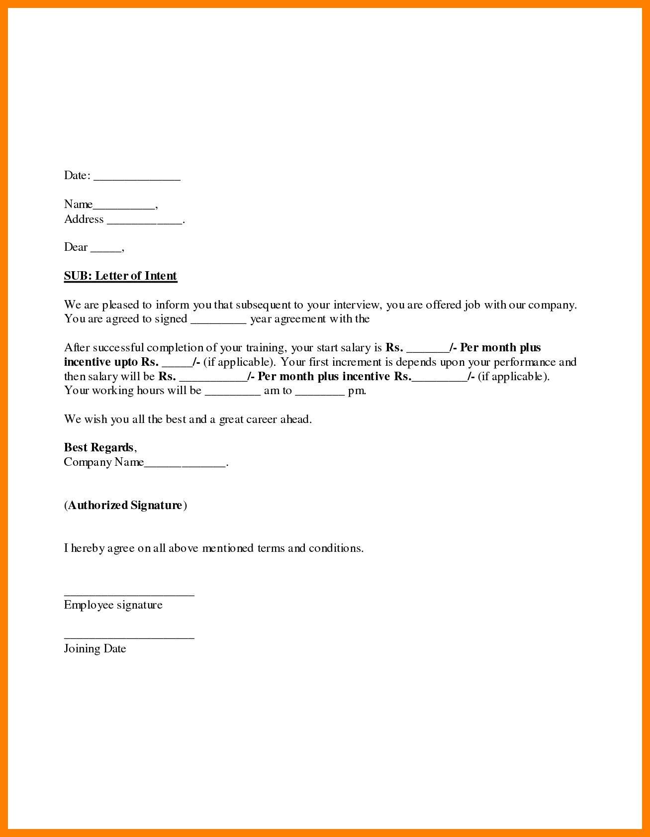 Joining Letter Sample For Job New 5 Joining Letter Sample Bunch