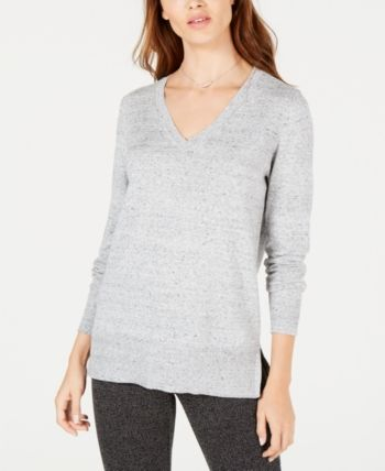 817d2a41ad Maison Jules Cotton V-Neck Tunic Sweater in 2019