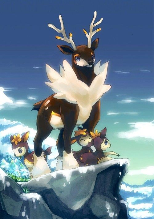 Sawsbuck & Deerling #pokemon #art