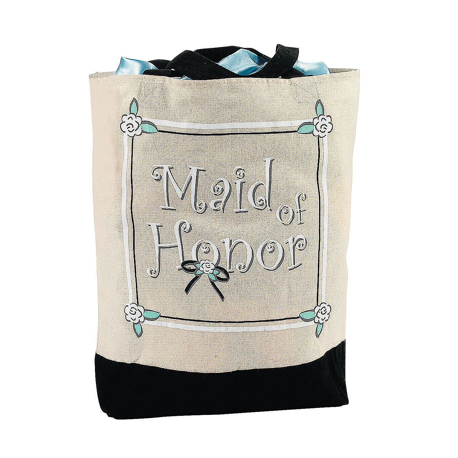 """Wedding Attendants Gifts: """"Maid Of Honor"""" Tote Bag - OrientalTrading.com"""