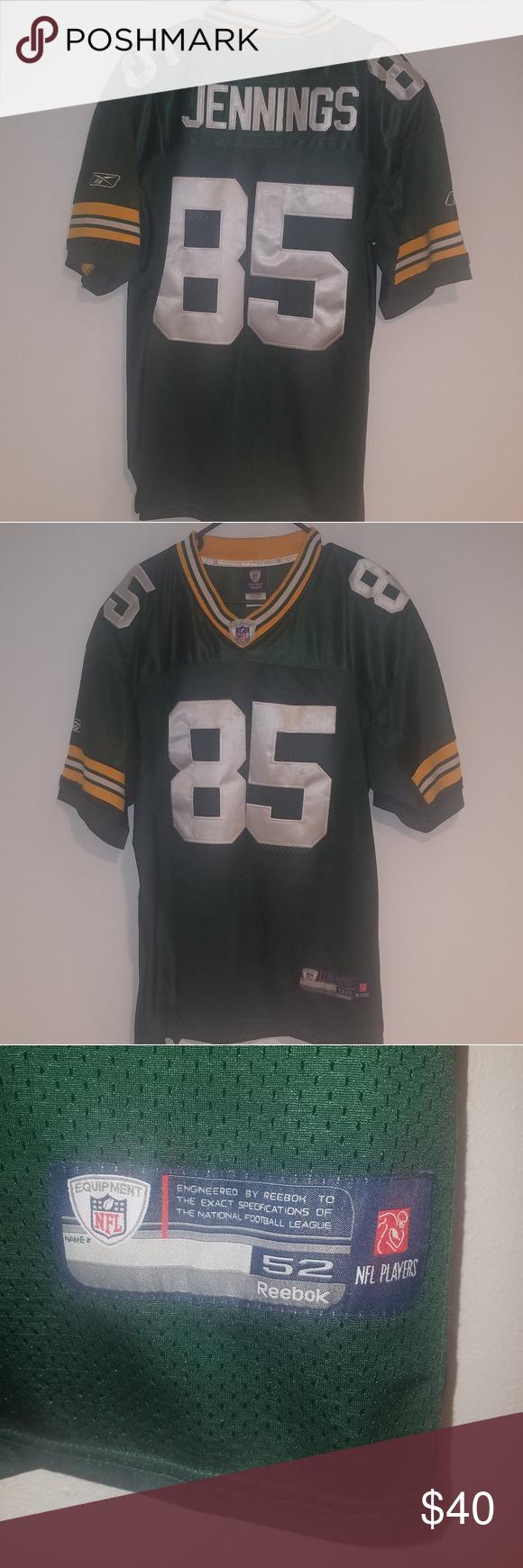 Green Bay Packers Jersey 85 Jennings Size 52 Green Bay Packers Jerseys Clothes Design Green Bay Packers