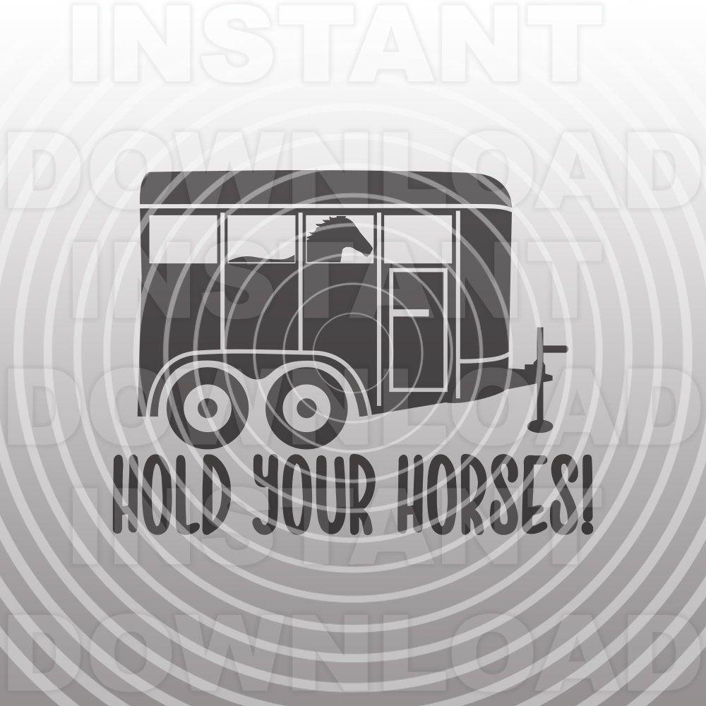 Idiom - Hold your horses - English Unite | Idioms, Art images, Free clip art