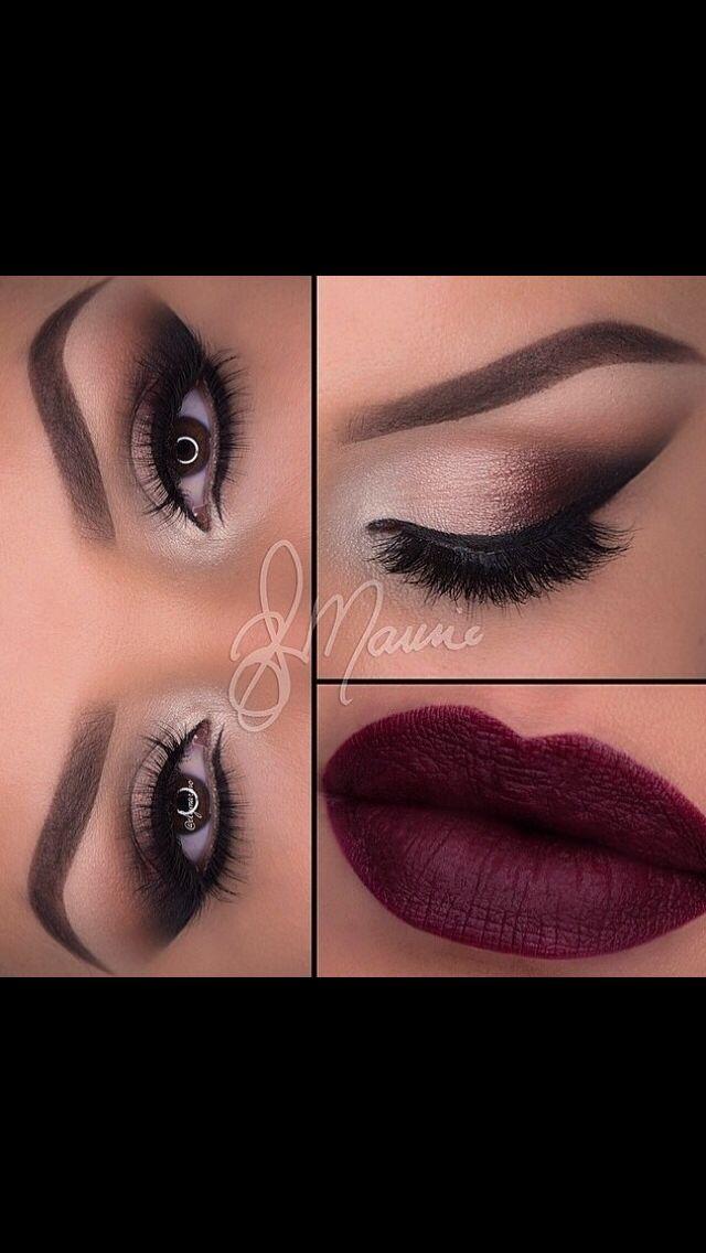 Dark Plum Red Dress Makeup Maroon Makeup