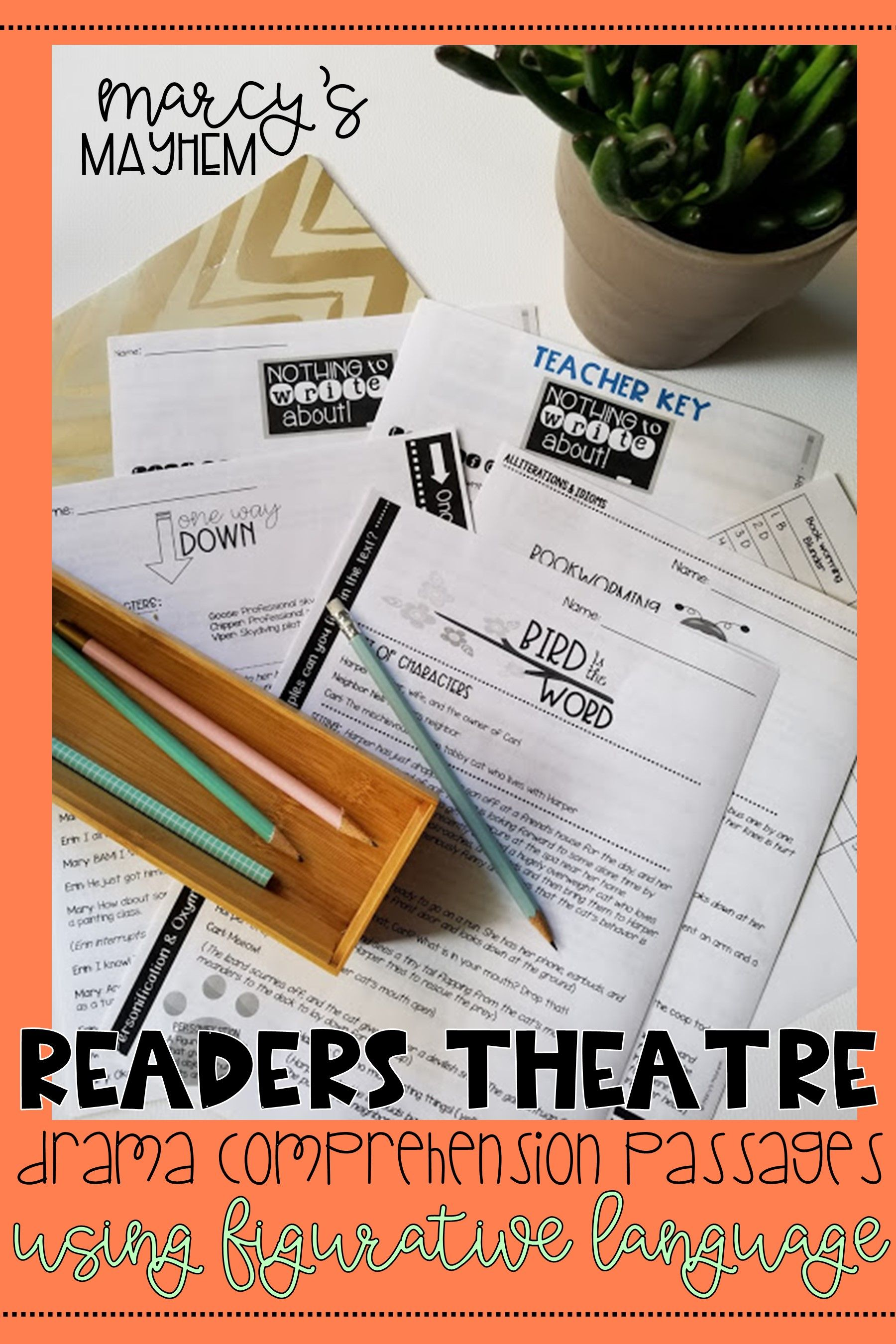 These Readers Theater Scripts Are Great For A Third Fourth Or Fifth Grader To Practice Acting Figurative Language Figurative Language Lessons Readers Theater [ 2700 x 1800 Pixel ]