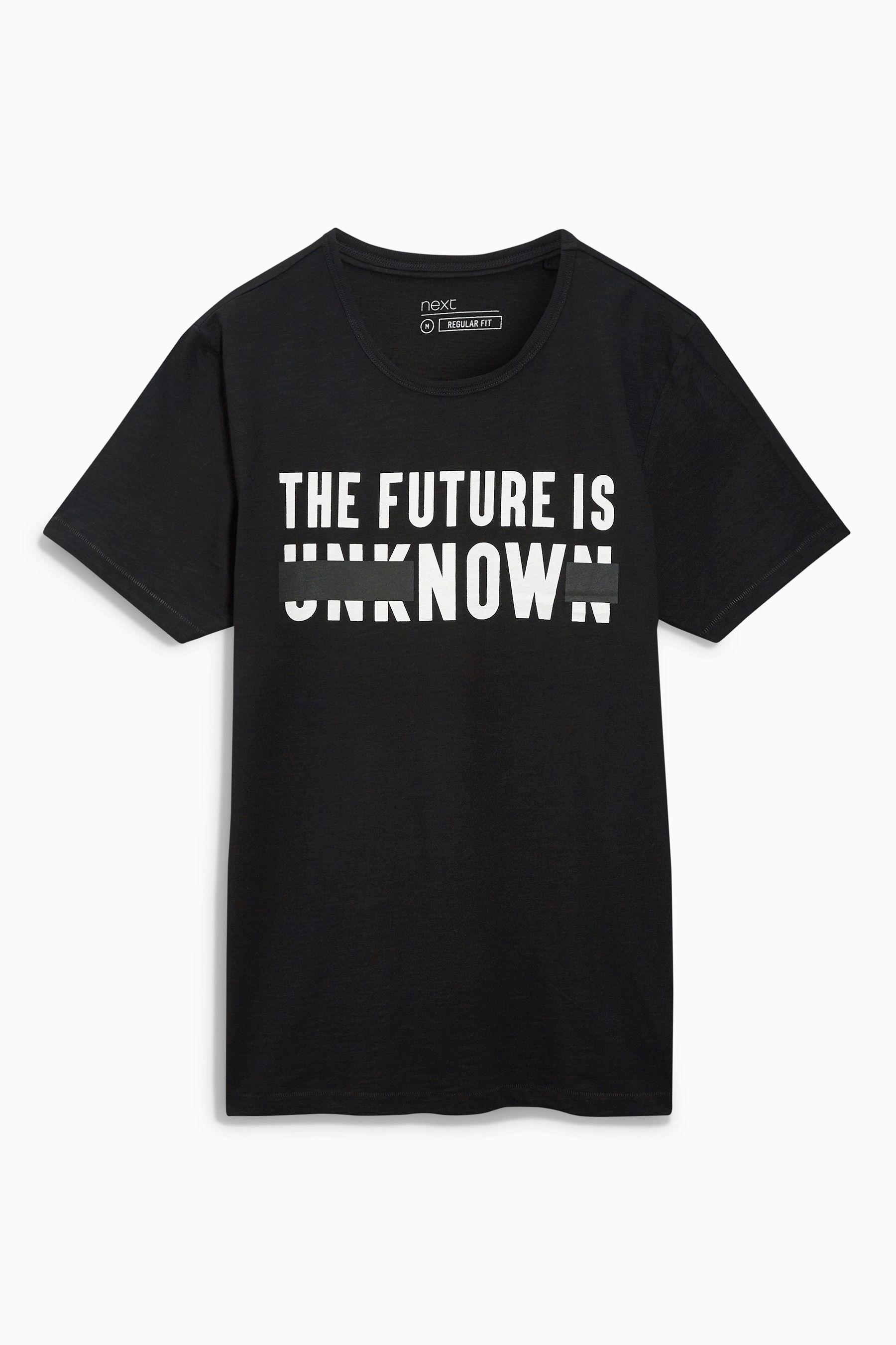 cbb9120b Buy Black Slogan T-Shirt from the Next UK online shop | Tees ...