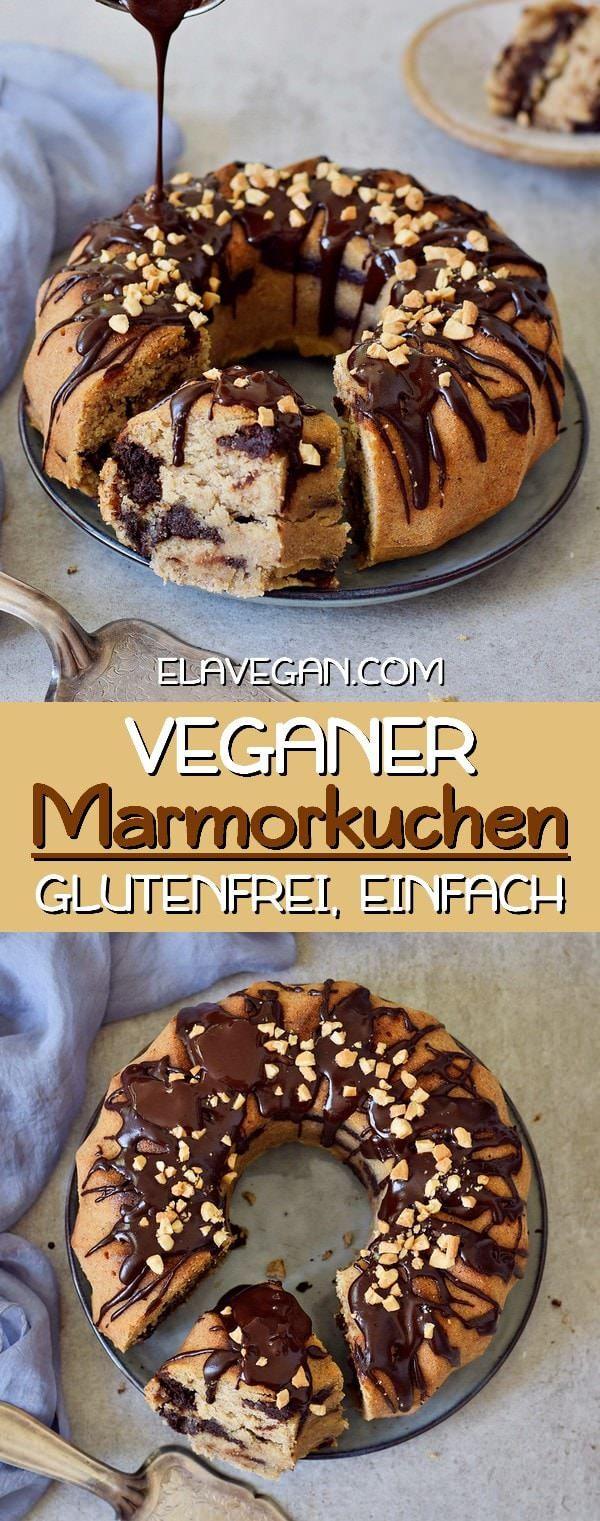Veganer Marmorkuchen | Gugelhupf Bananenbrot Rezept - Elavegan