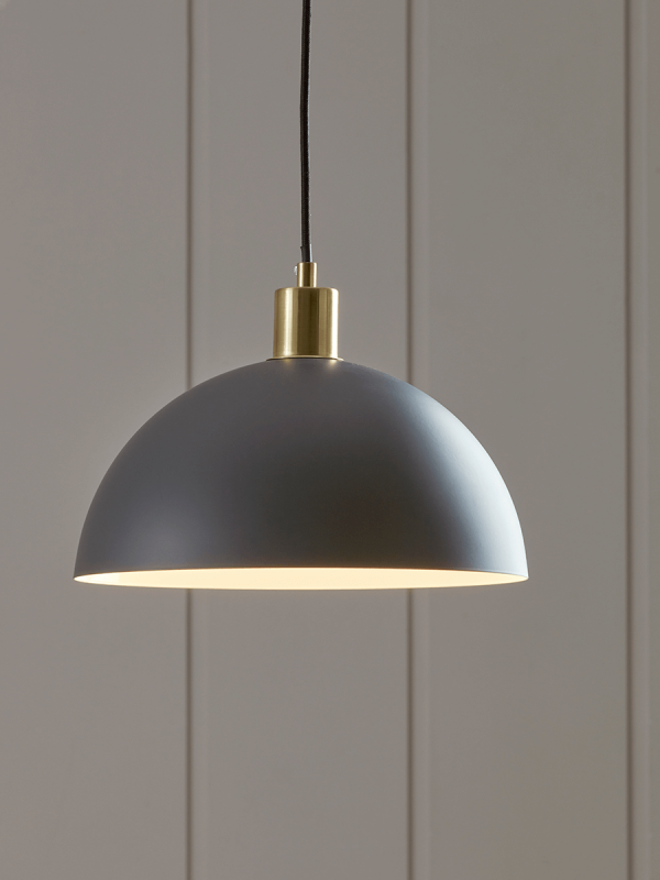 Metal Dome Pendant Dark Grey Ceiling Pendant Glass Ceiling Pendant Modern Ceiling