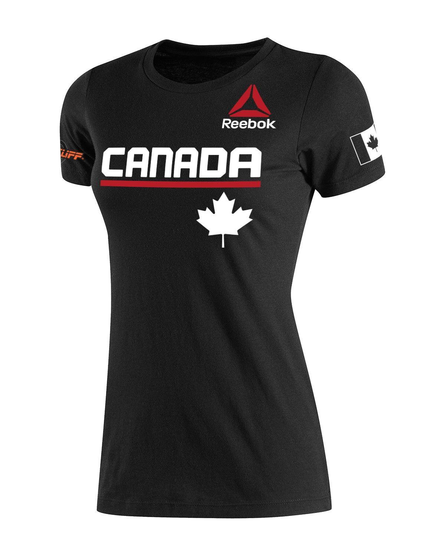 798119373 Her 2014 Reebok CrossFit Invitational Canada Team Practice Tee - New Gear -  Women