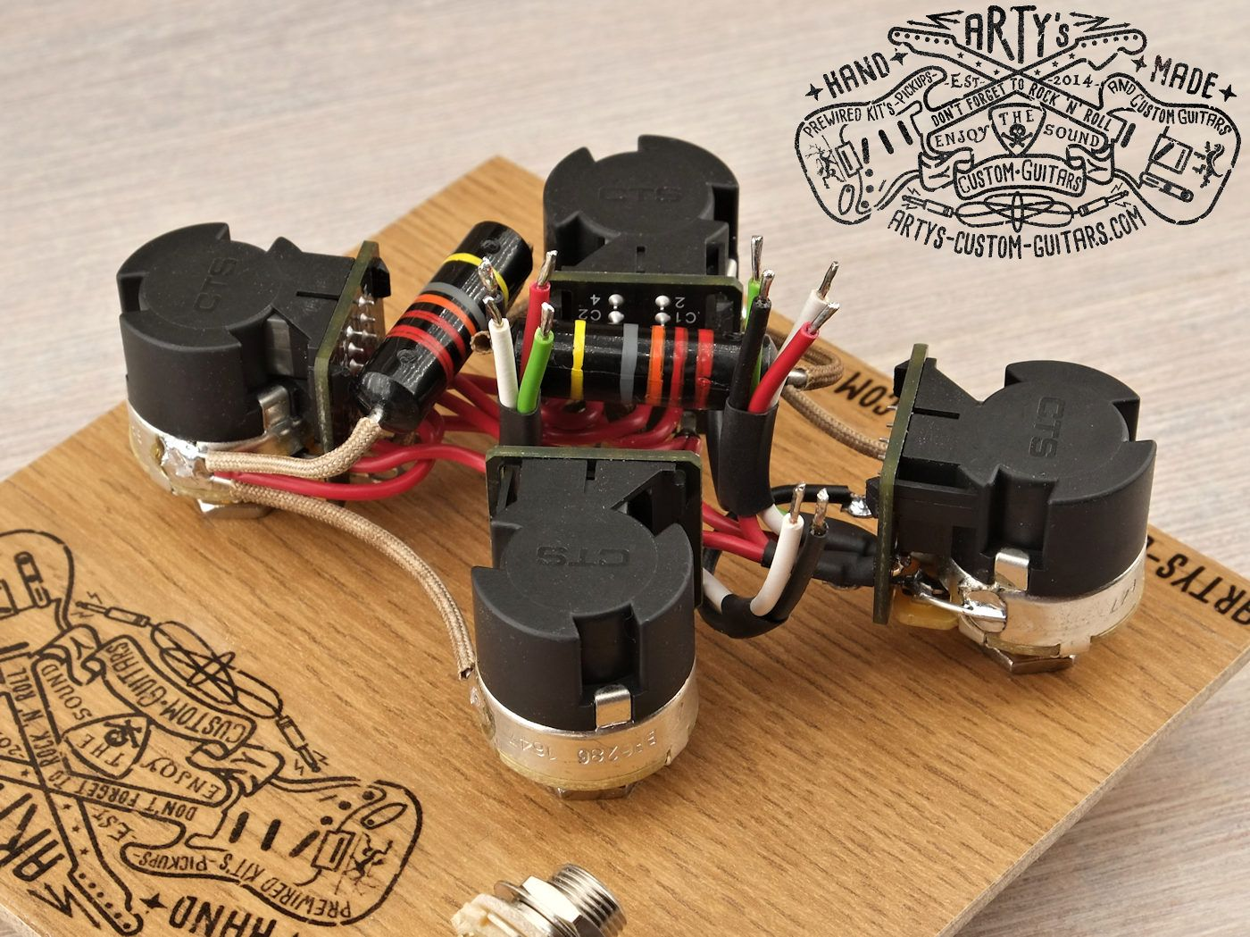 Les Paul Jimmy Page Style Prewired Harness Mit Bumble Bee Custom New Gibson Wiring Artys Guitars