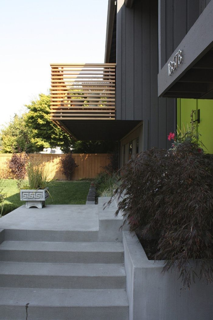 Garde-corps extérieur sur le balcon \u2013 designs et matériaux Garde - Terrasse Suspendue Bois Prix