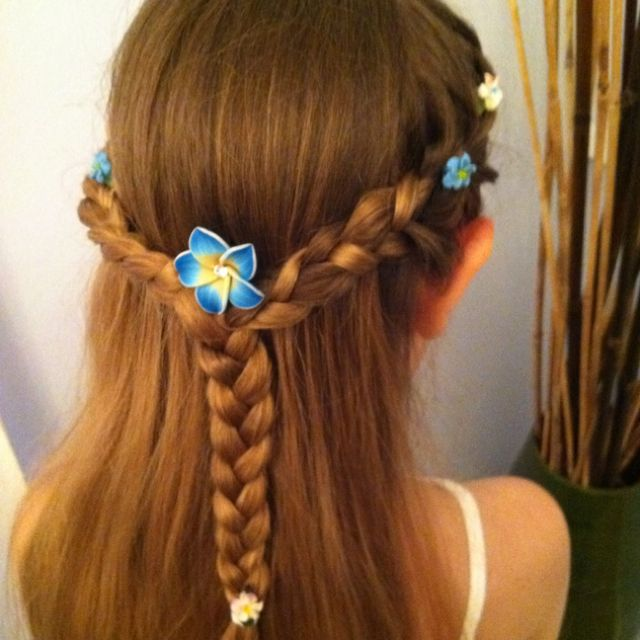 Hairstyle For Fairy Themed Birthday Party Fairy Hair Kids Hairstyles Hair Styles