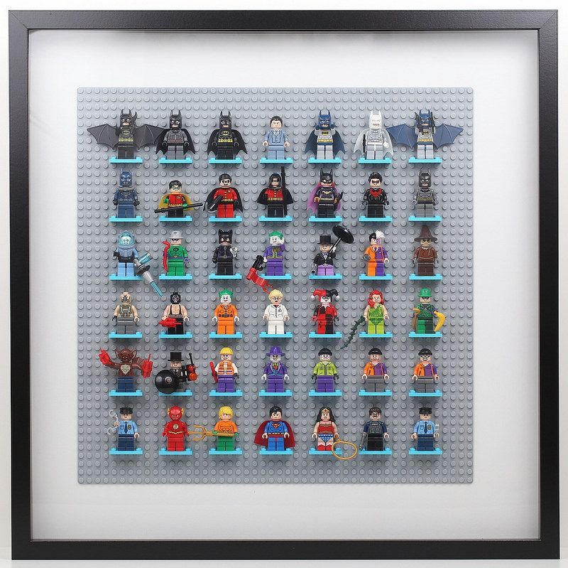 Lego Batman Minifigure Display with Ikea Ribba Frame Revisited ...