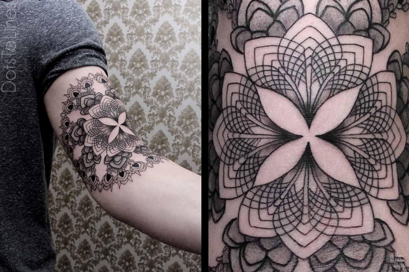 Dots to lines: los 10 mejores tatuajes geométricos de Chaim Machlev : La Niña Bipolar