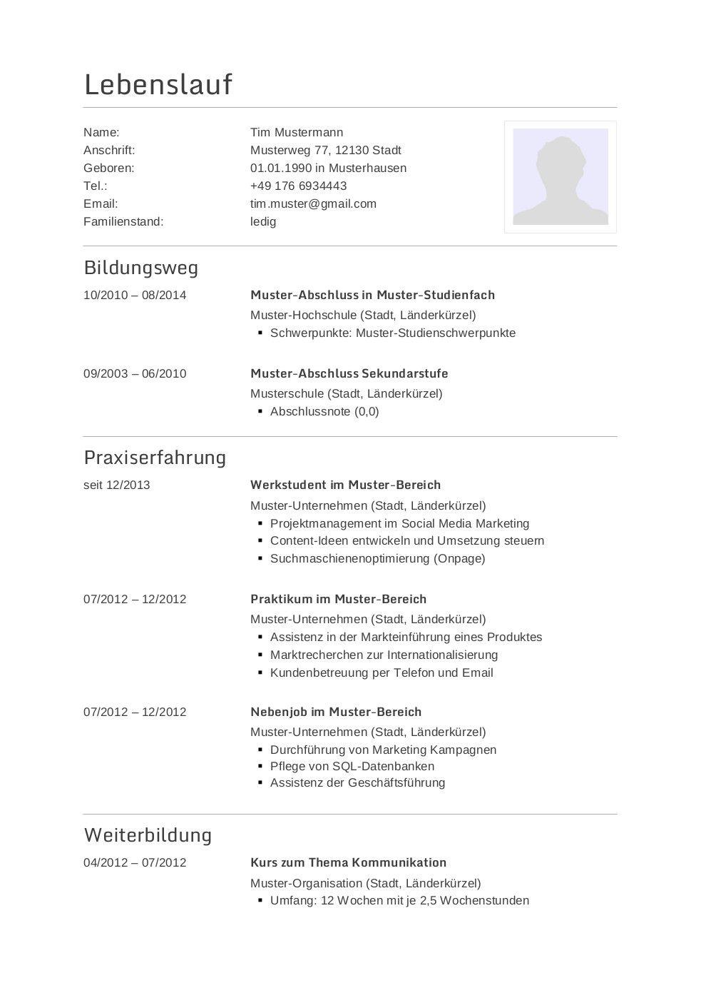 Groß Beispiel Lebenslauf Für Absolventen Krankenpflegeschule ...