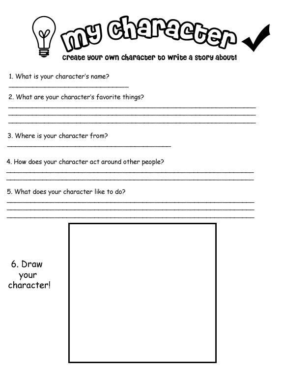 Character Development Worksheets Character Worksheet With