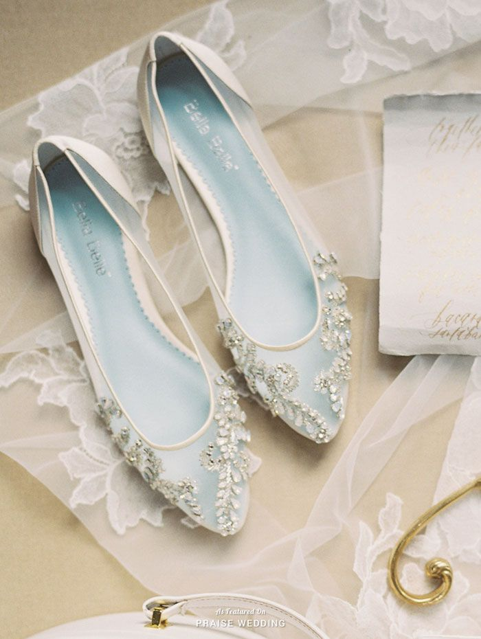 Dance the night away in these glass slipper-inspired bridal flats ...
