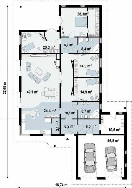 Ficha y planos de casa z ncara estilo r stico - Casas estilo rustico ...