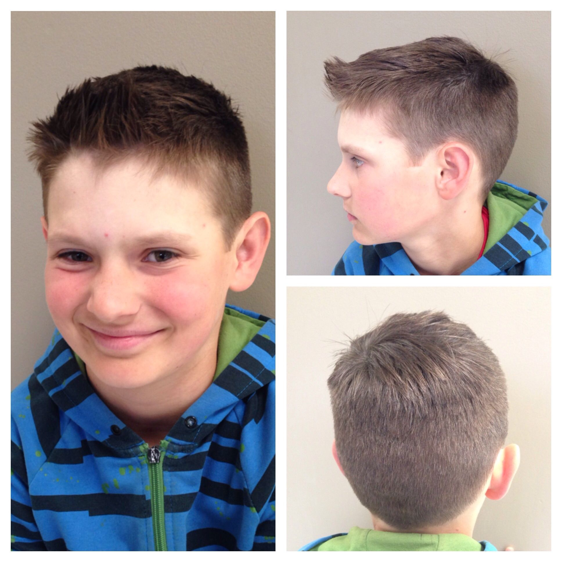 pin on the boy's hair