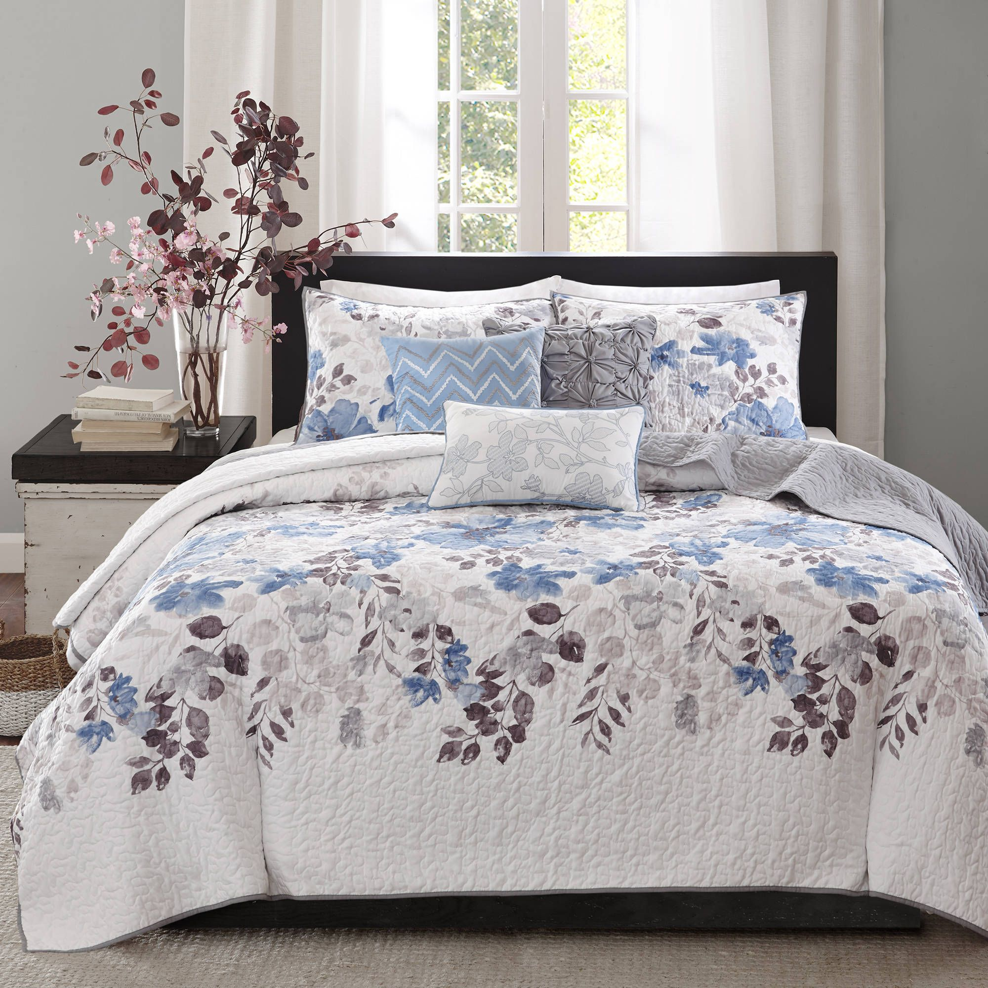Home Essence Willow 6 Piece Reversible Printed Coverlet Bedding