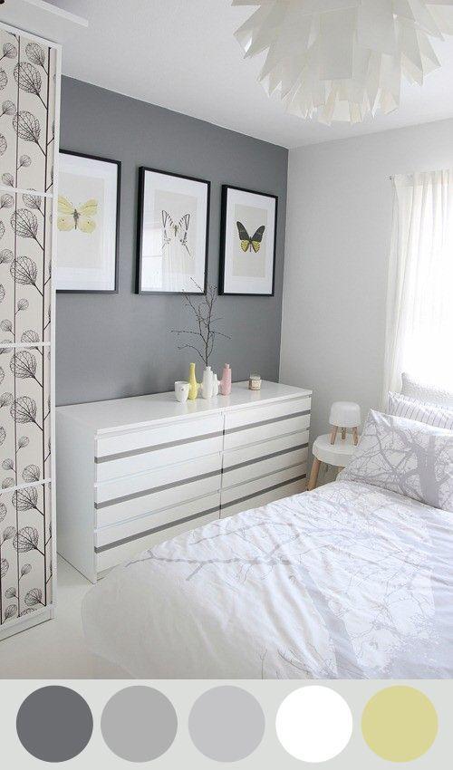 Trend alert decoraci n blanco negro gris blanco for Decoracion dormitorio gris
