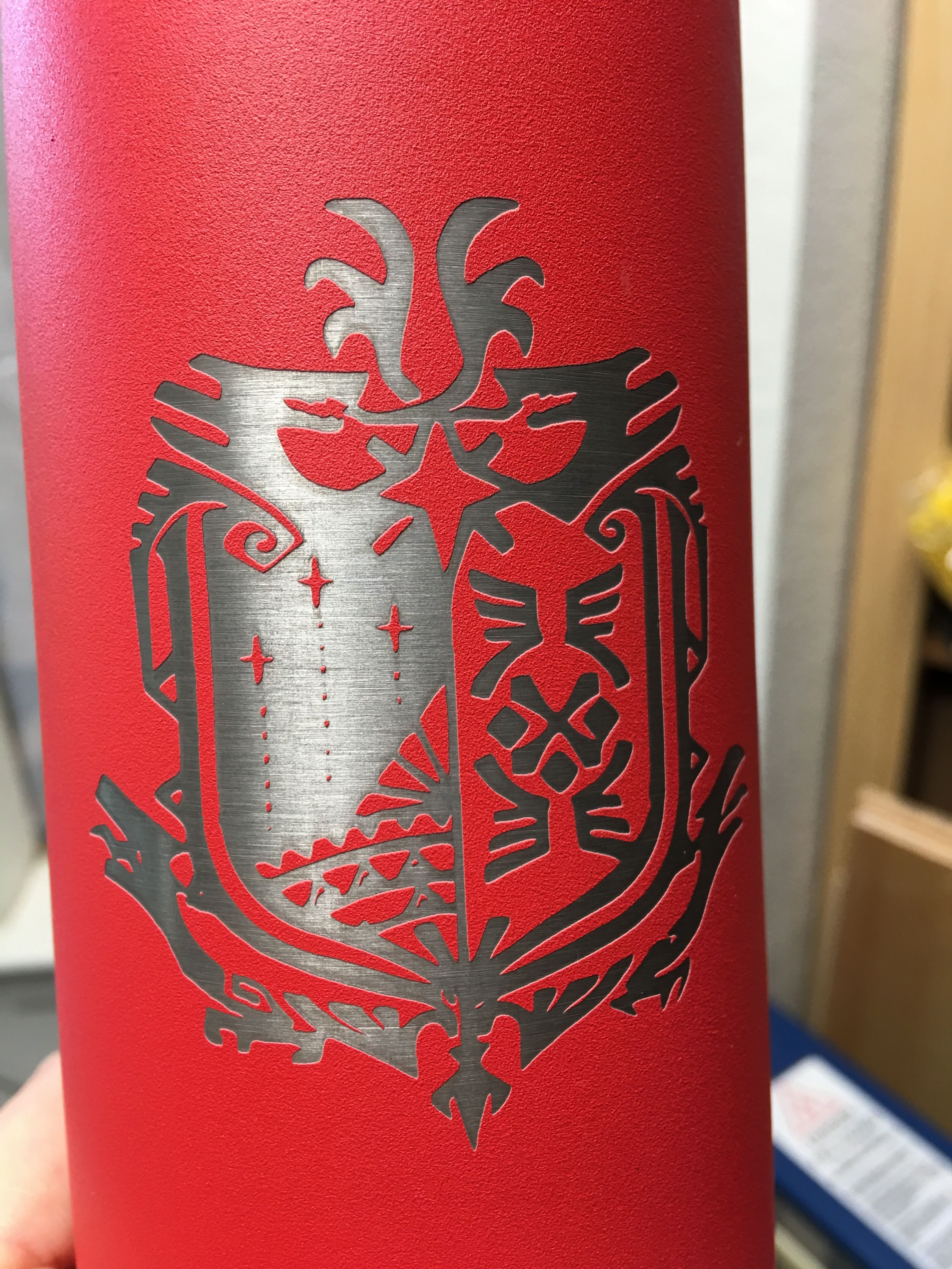 Coat Of Arms Thermos Engraved Tumblers Laser Engraving Engraving Services