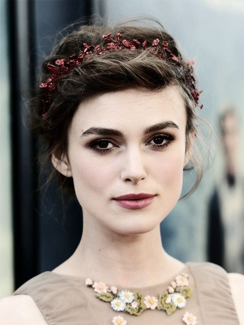 Keira Knightley--totally ethereal.  She looks like a wood nymph.