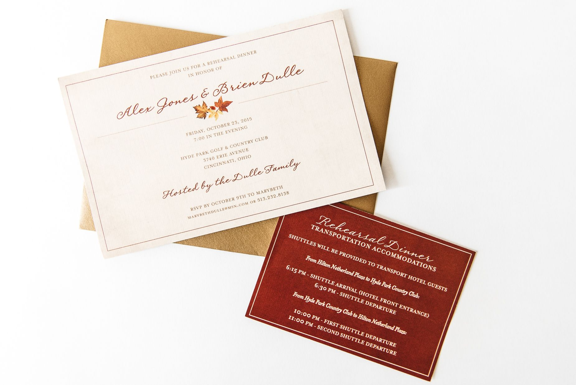 Rehearsal Dinner Invitations | Graphic Design Inspiration ...