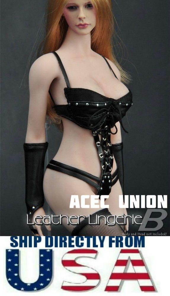 d67b6040d76 1/6 Sexy Female Leather Lingerie Set B For Phicen Kumik Hot Toys - U.S.A.  SELLER #ZYTOYS