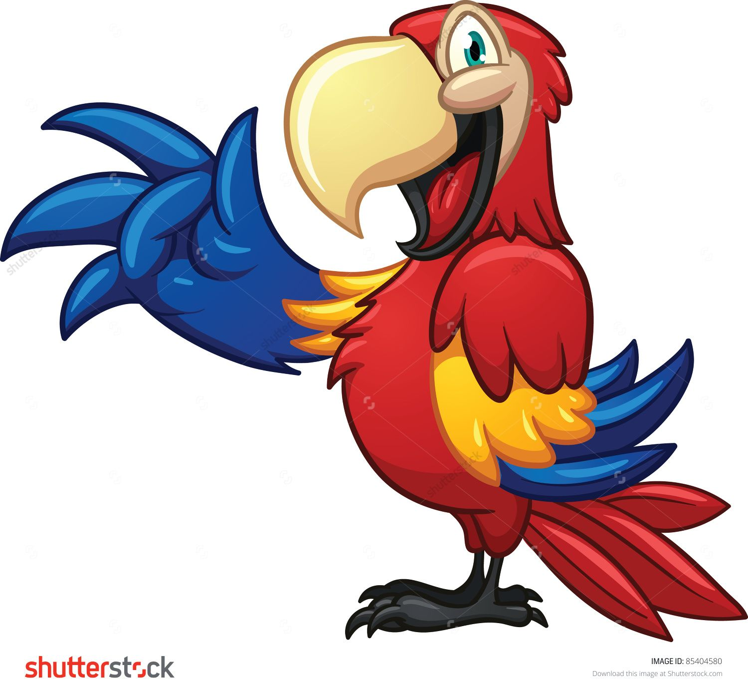 how to draw a macaw easy