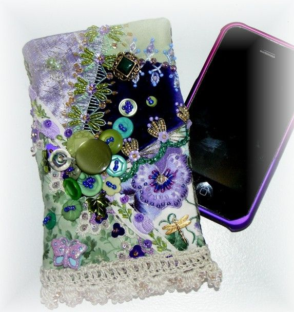 Crazy Quilt Cellphone Pouch Purple | Flickr - Photo Sharing!