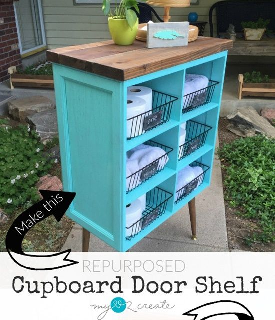 This Tutorial Of How To Build A Storage Cabinet From Salvaged