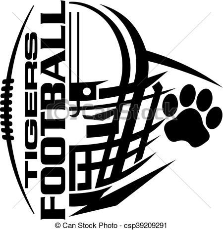 vector tigers football stock illustration royalty free rh pinterest com footprint vector art football helmet vector art