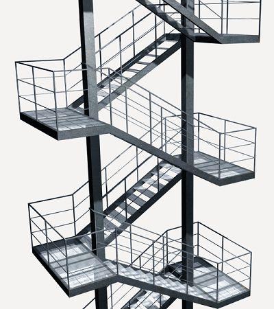 Escaleras de emergencia buscar con google interior for Escaleras metalicas exteriores precios