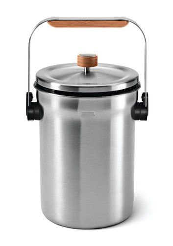 Simplehuman Stainless Steel Kitchen Compost Pail Bin Composting Food Ss New Ebay