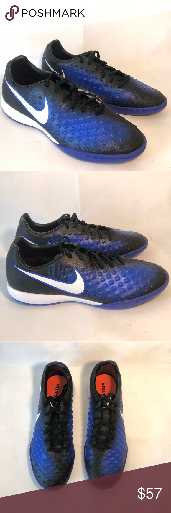 39cd7a8c49a4 Nike Magista X Onda II IC Indoor Soccer Shoes Sz 7 Nike Magista X Onda II  IC Indoor Soccer Shoes Size 7 Black Blue New 844413-015 Ships next business  day!