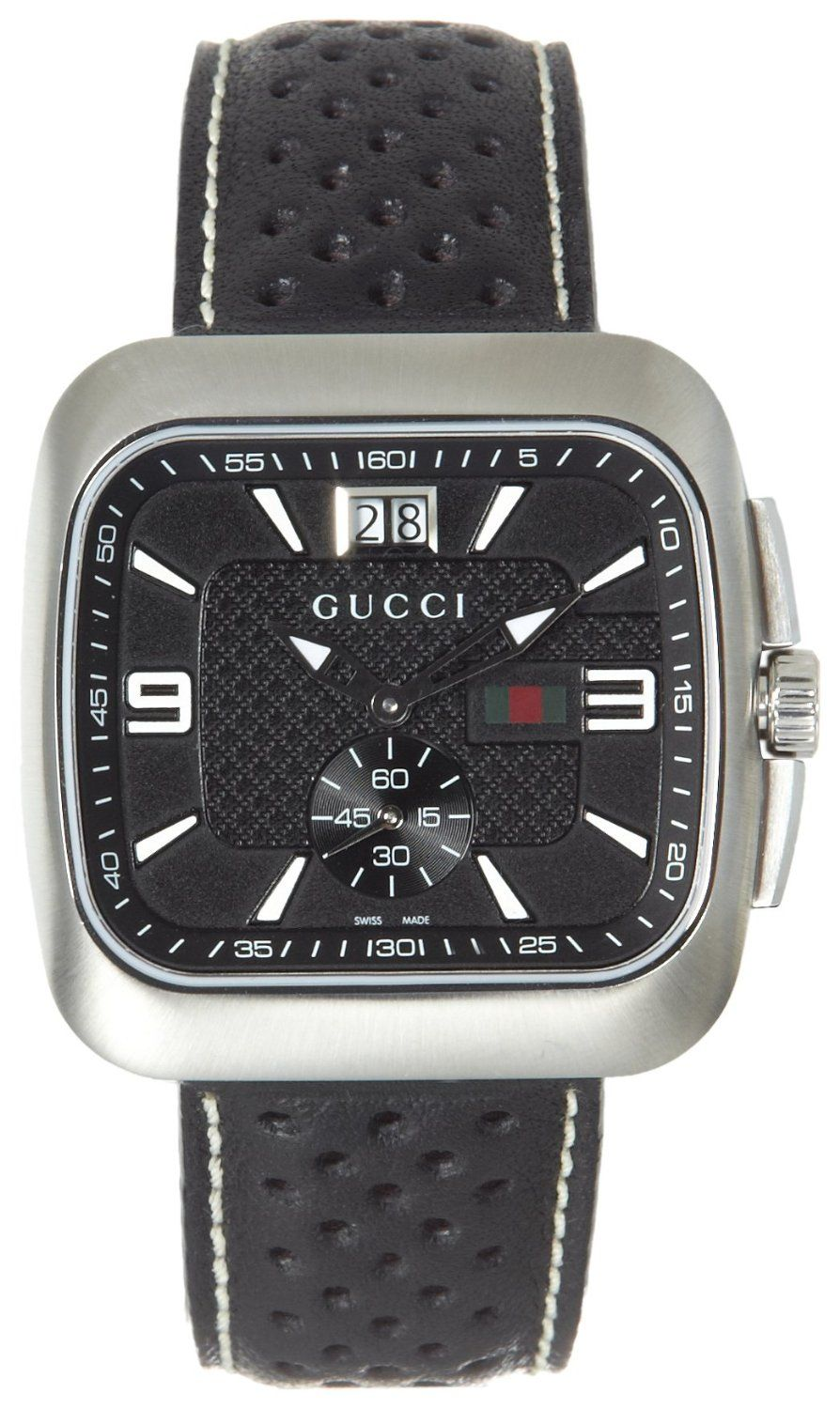 ec0786a9284 Gucci Men s  YA131302 Gucci Coupé Black Leather Watch