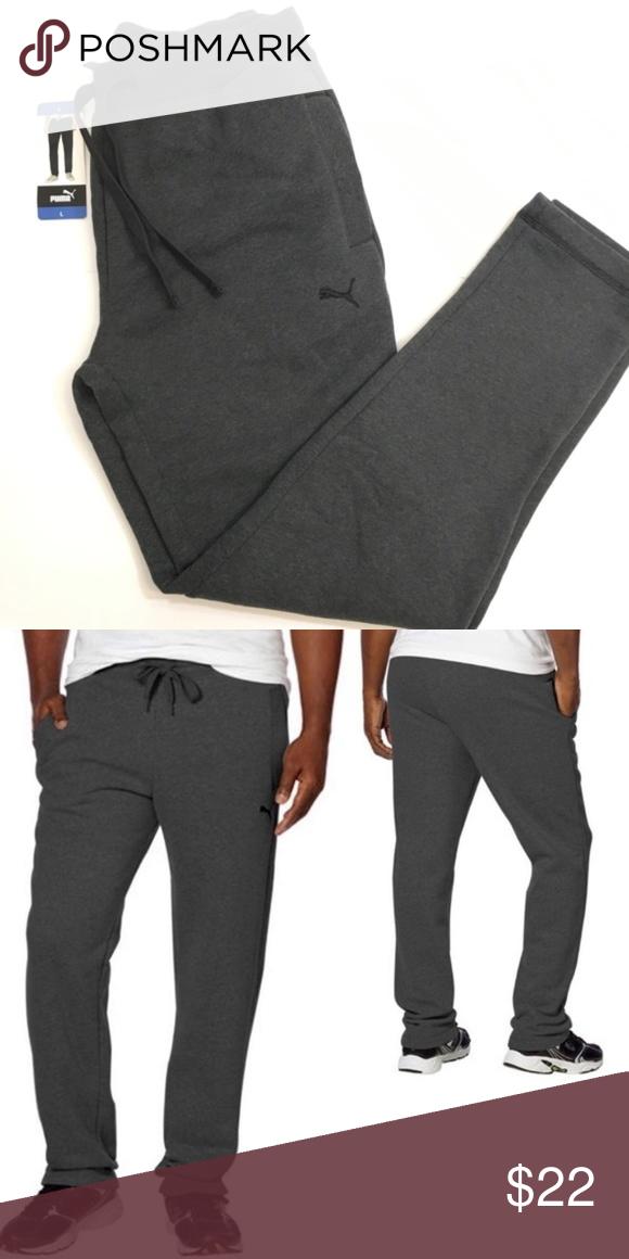 NEW PUMA Fleece Pants with Pockets Men/'s Dark Gray Medium Large XL