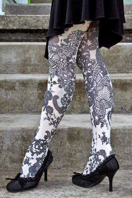 French Affair Opaque Printed Tights I Have A Tights Problem