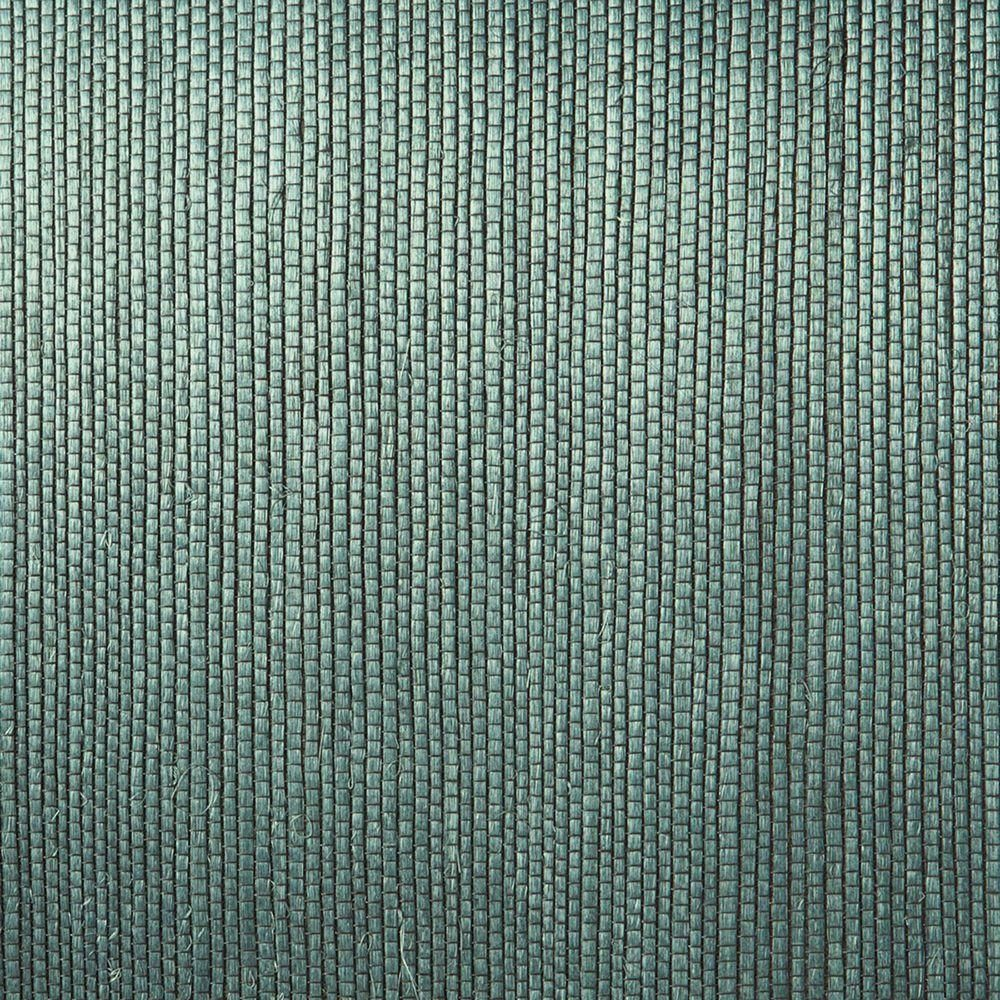8 in. W x 10 in. H Thanos Teal (Blue) Grasscloth Wallpaper