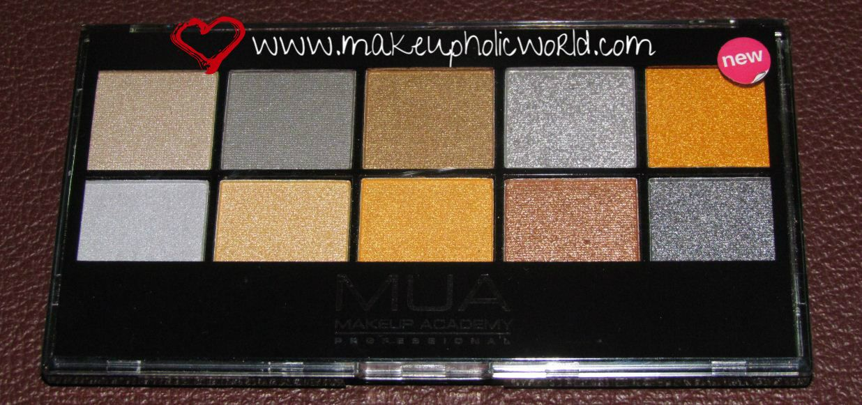 MUA Going For Gold Eye Shadow Palette Review (Limited