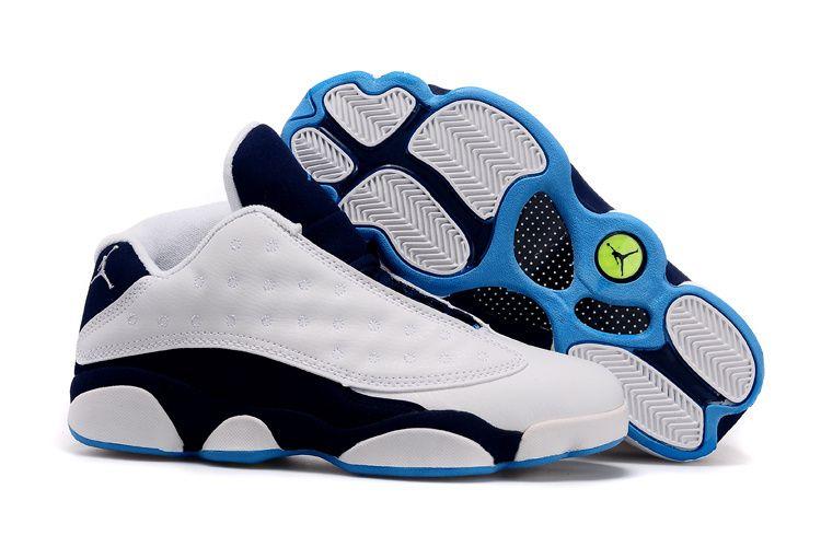 Authentic jordan retro 13 shoe wowhite all sky blue grey shoe for sale