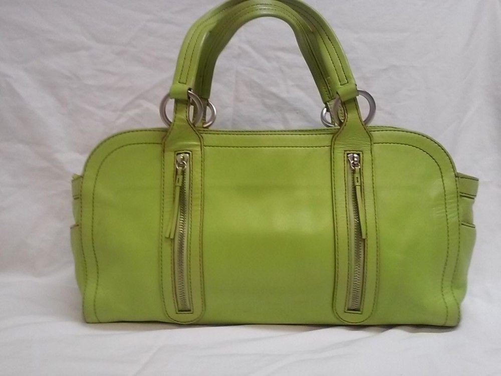377cc2734c1f Hype Lime Green Leather Shoulder Bag  Handbag  Purse